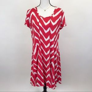 Sami & Jo  red Fit and flair dress XL